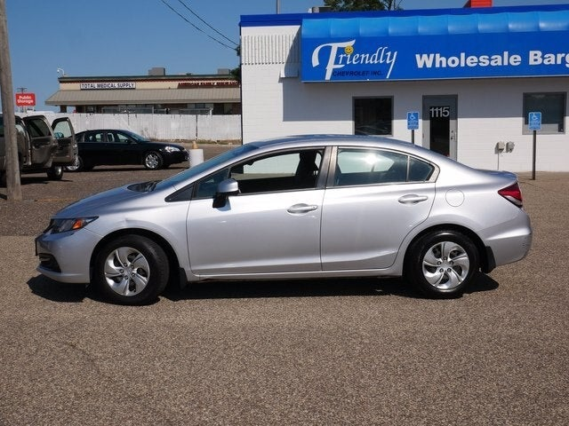 Used 2013 Honda Civic LX with VIN 2HGFB2F55DH572056 for sale in Fridley, Minnesota