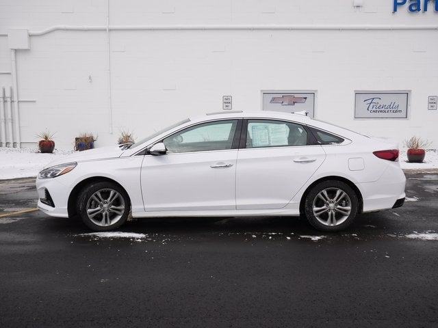 Used 2018 Hyundai Sonata Limited with VIN 5NPE34AF3JH648329 for sale in Fridley, Minnesota